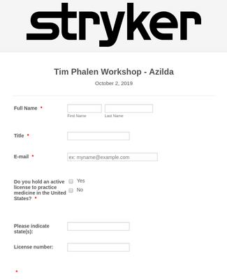 Workshop Sign-In Form