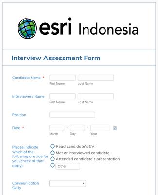 Interview Assessment Form Template Jotform