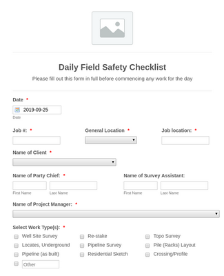 Daily Field Safety Checklist