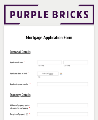 Purple Brick Real Estate Mortgage application