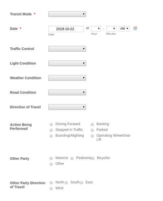 Close Call Report Form