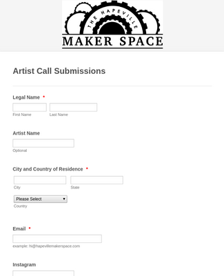 Artist Call Submission