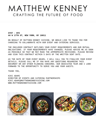 Catering Order & Contract Form