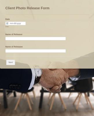 Client Photo Release Form