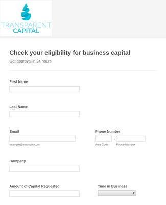 Capital Eligibility Form