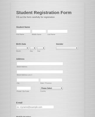 Natal Chart Course Registration Form