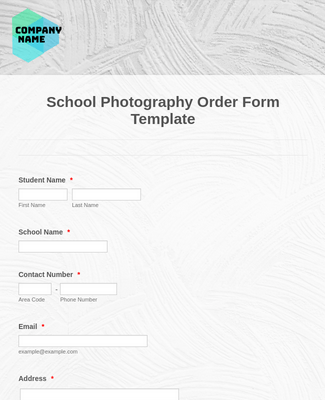 School Photography Order Form Template