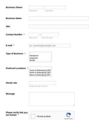 Trade Registration Form