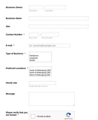 Trade Registration Form