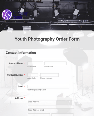 Youth Photography Order Form