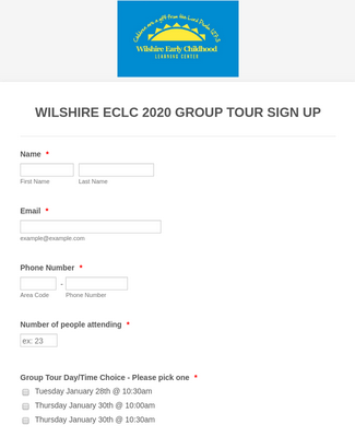 Wilshire ECLC Group Tours 2020
