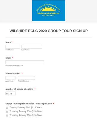 Wilshire ECLC Group Tours 2020