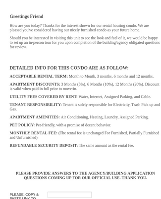 LEASE APPLICATION FORM FOR USE
