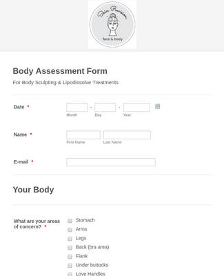 Body Assessment Form
