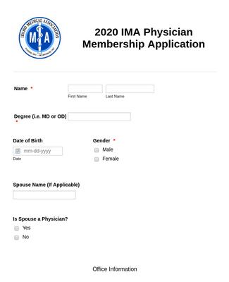 2020 IMA Physician Membership Application