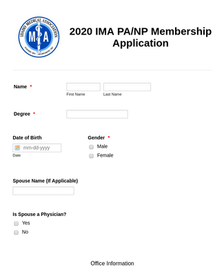 Association Membership Application Form