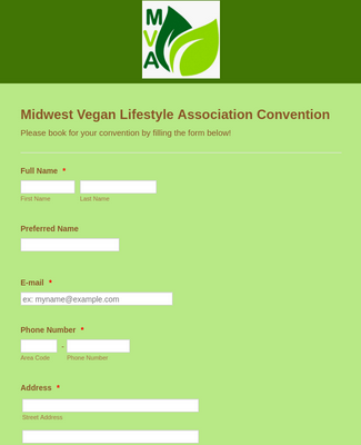 Convention Registration Form