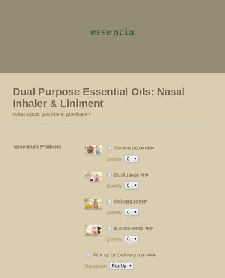 SPA Products Order Form