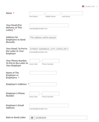 Records Request Form