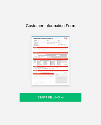 Customer Information Form