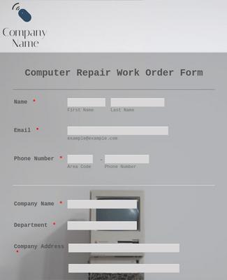 Maintenance Work Order Form Template Jotform