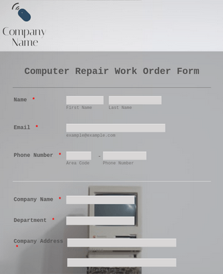 Computer Repair Work Order Form