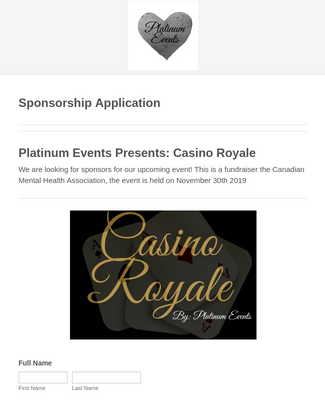 Event Sponsorship Application Form