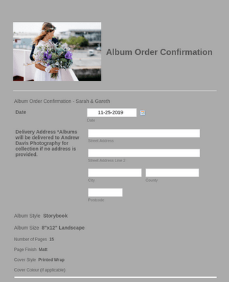 Album Order Confirmation