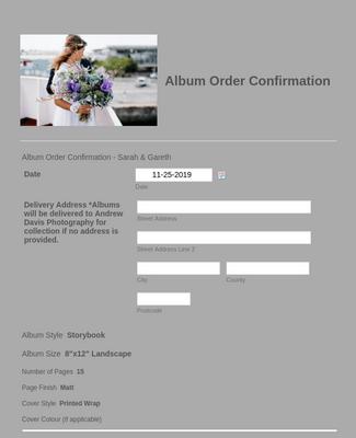 Album Order Confirmation