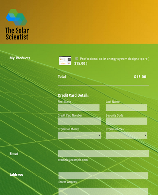 Solar System Purchase Order Form