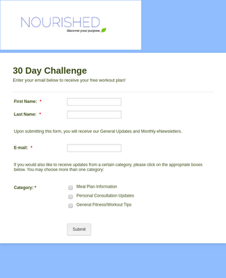 Health Insights Opt-In Form