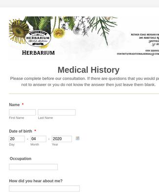 Patient Intake Form