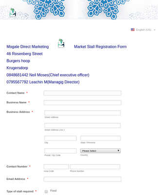 Market Registration Form