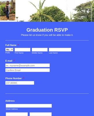 Graduation Ceremony RSVP