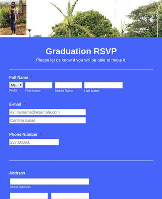 Graduation Ceremony RSVP