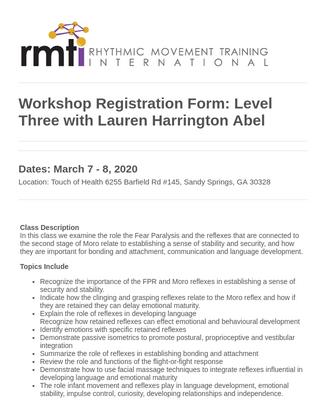 Childcare Workshop Registration Form