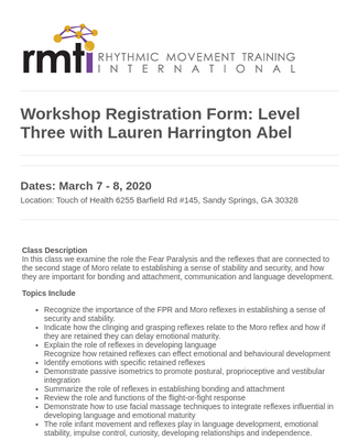 Childcare Workshop Registration Form