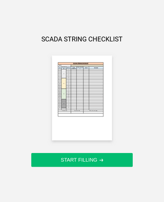 Solar Strings Checklist