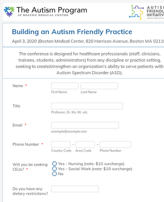 Healthcare Conference Registration Form