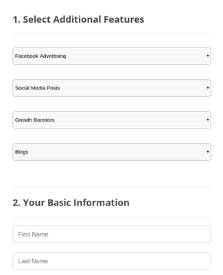Marketing Service Order Form