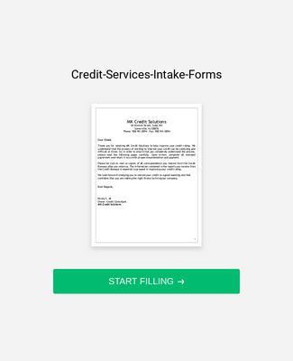 Credit Services Intake Form