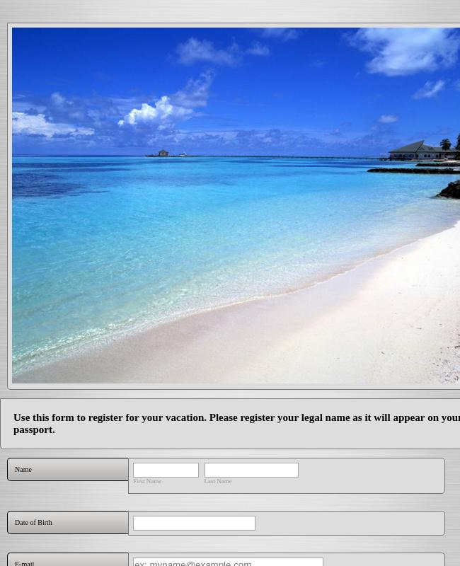 Travel Registration Form