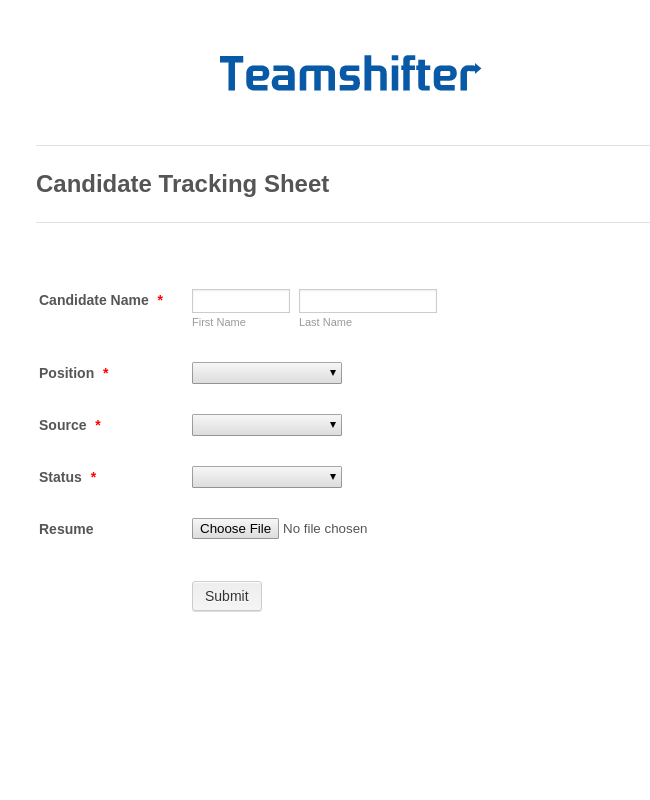 Candidate Tracking