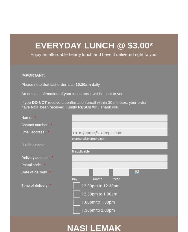 Everyday Lunch Deal
