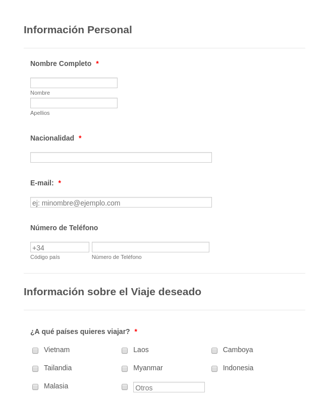 Personalize And Book Your Trip In Spanish