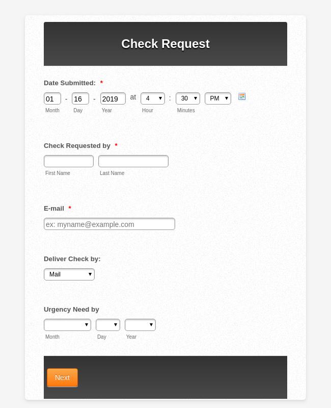 Check Request