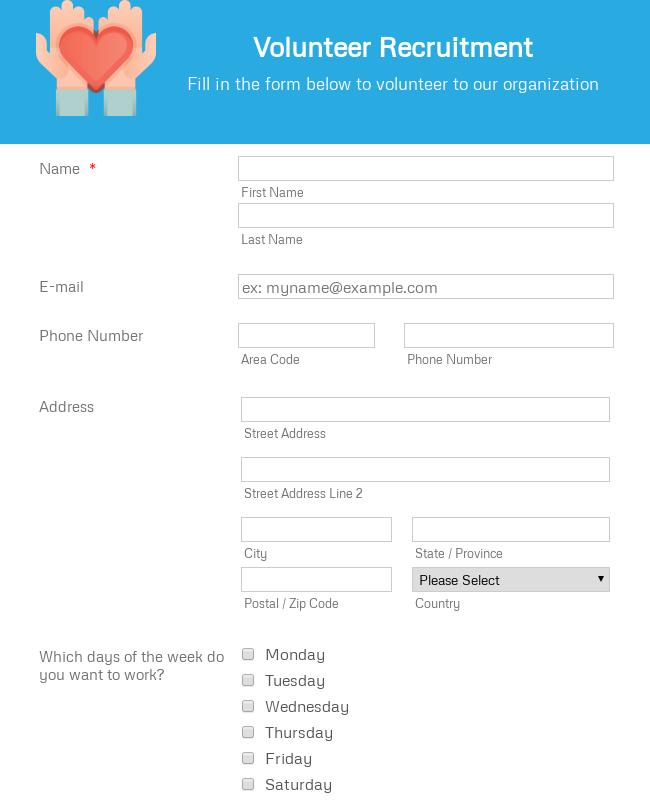 Volunteer Recruitment Form