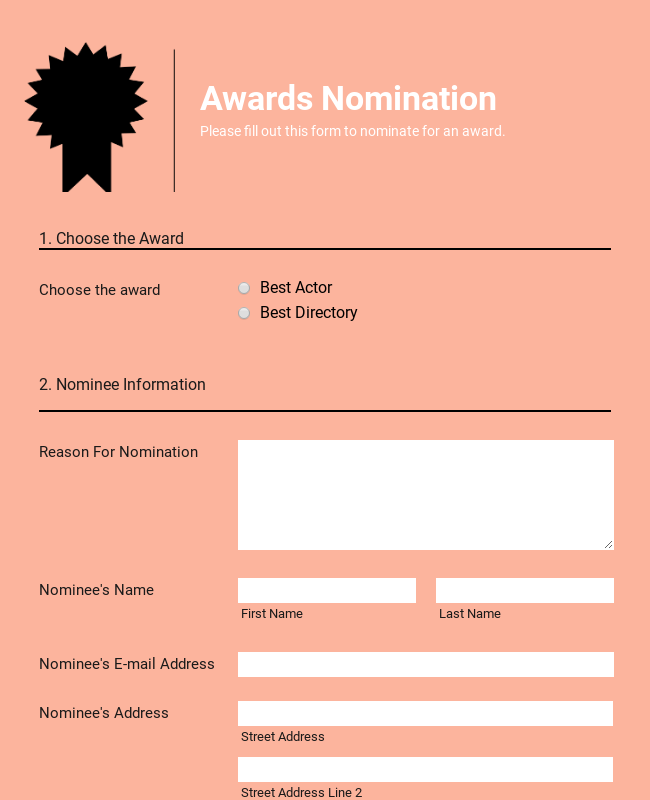 Responsive Awards Nomination