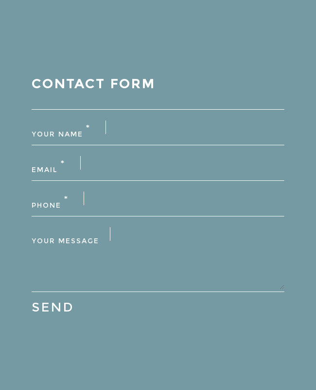 Cool Minimalist Contact Form