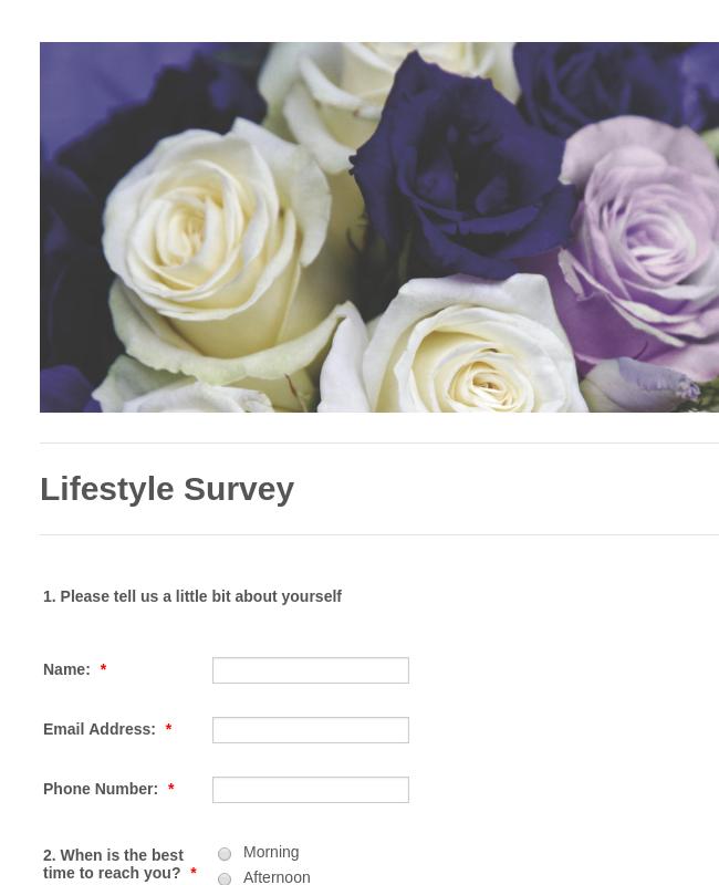 Personnel Survey Form